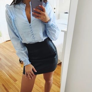 LIGHT BLUE BLOUSE LONG SLEEVE H&M SMALL SIZE 0